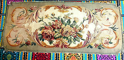 French Handwoven Aubusson Tapestry 19th Century Wool