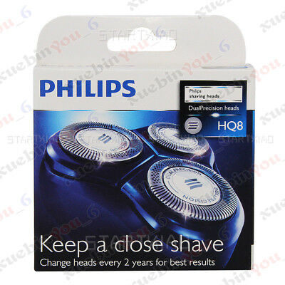 100% Genuine 3x Shaver Razor Replacement Blades Heads for Philips Norelco HQ8/52