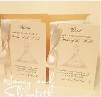 Beautiful Mother of the Bride / Father of the Bride Wedding Thank You Card