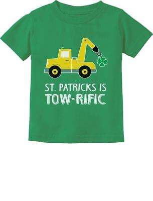 St. Patrick's Day Gift Clover Tractor Toddler Kids T-Shirt Gift For Tractor Boys