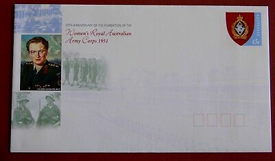 Women's Royal Australian Army Corps 1951- Postage Paid Envelope MINT