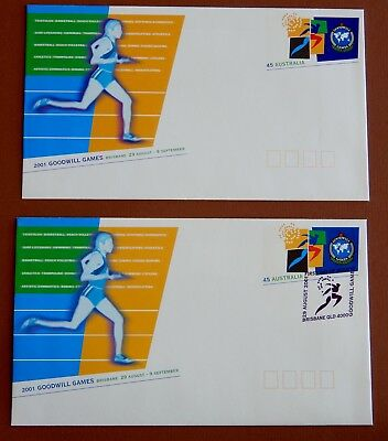 2001 Goodwill Games: Pre Stamped Envelope - Mint & 1st Day of Issue
