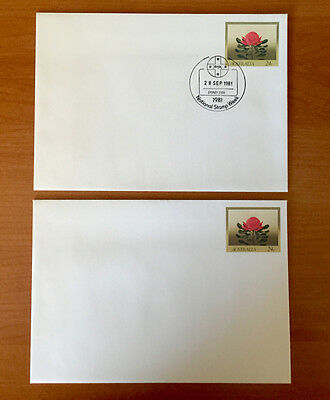 Australian Flowers 24c - Pre Stamped Envelopes - Nice set 1st day covers + extra
