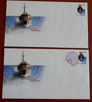 Commissioning of HMAS Huon 1999 - Pre Stamped Envelope set: Mint & 1st Day Issue