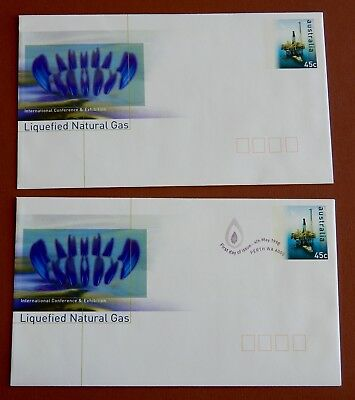 Liquefied Natural Gas Conference Perth - Pre Stamped Envelope set: Mint 1st Day