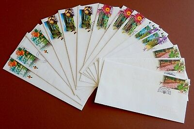 Botanic Gardens- Pre Paid Envelope set MINT & 1st day Issue + 4 Used Fantastic!