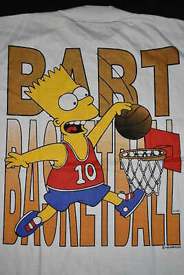 Bart Simpson T-Shirt  Simpsons Bart Gang Way Vintage 90s Basketball Comic L NEU