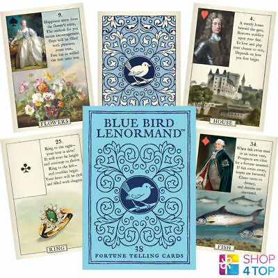 Blue Bird Lenormand Oracle Cards Deck S. Kaplan Esoteric Telling Us Games System