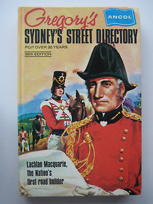 Gregorys street directory - Sydney 1971 - Edition 36 - 326 pages