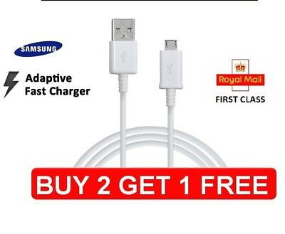 Genuine  Cable Samsung Galaxy S6 Edge+ S7 Note 4/5 Fast Charger USB Data Cable
