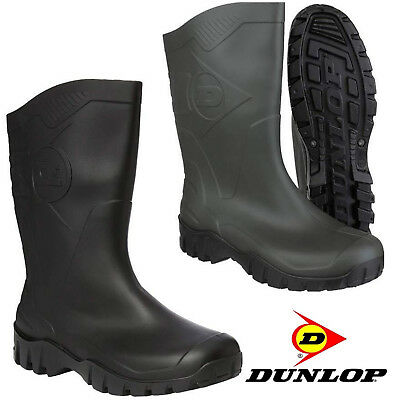 New Mens Ladies Dunlop Dee Wide Calf Wellingtons Wellies Boots Wide Calf 4-12 Uk