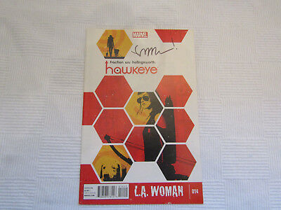 Hawkeye #14 - signed by Matt Fraction - Marvel Now