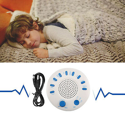 White Relax Machine Deep Sleep Solution Noise Nature Peace Therapy 9 Sounds AU