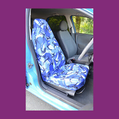 Azul Camuflaje Impermeable Para Coche/Camioneta Simple Universal
