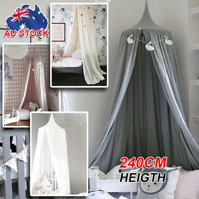 Kids Baby Bed Canopy Bedcover Mosquito Fly Net Curtain Bedding Dome Tent Cotton