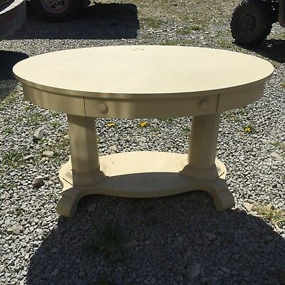 Vintage Oval Library Table- Empire
