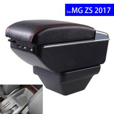 Leather Car Interior Parts Auto Center Console Armrest Box with USB for MG ZS