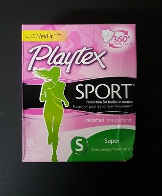 Playtex Sport Tampons FlexFit Super Unscented 18 Each