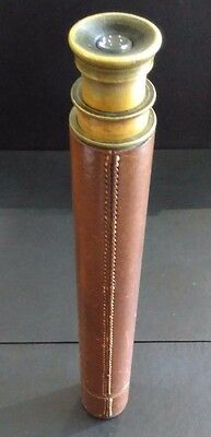 "Antique Telescope ""The Rifleman"" J H STEWARD LONDON 2 Draw Brass, Leather Bound"