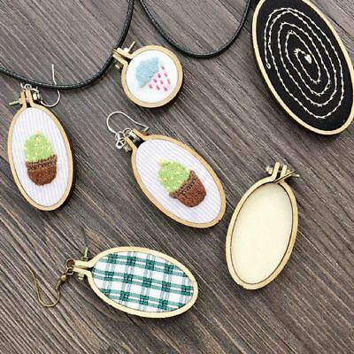 DIY Crafts Wooden Framing Hand Stitching Embroidery Hoop Cross-Stitch Frame