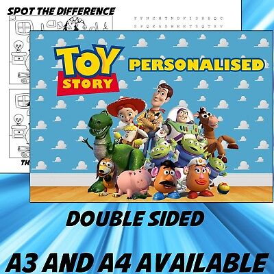 Childrens Toy Story Dinner Mat A4 / A3 sizes available Place Mat