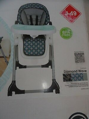 f7e13319df26 BABY TREND DELUXE 2-in-1 High Chair Diamond Wave ~ New In Box ...