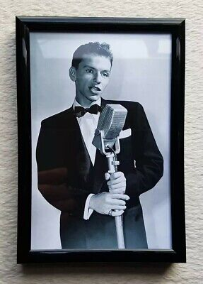 Frank Sinatra/Rat Pack/Photo/Print/Framed.(Birthday/Fan Gift/Memento).🇺🇸🎁.