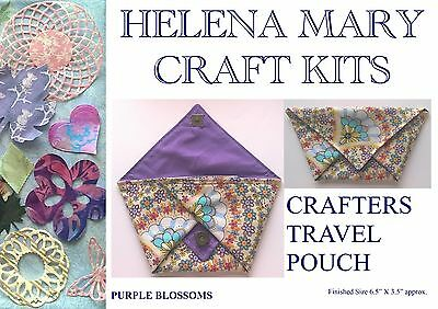 Helena Mary Crafters Travel Pouch Kit Complete Kit - Purple Blossoms