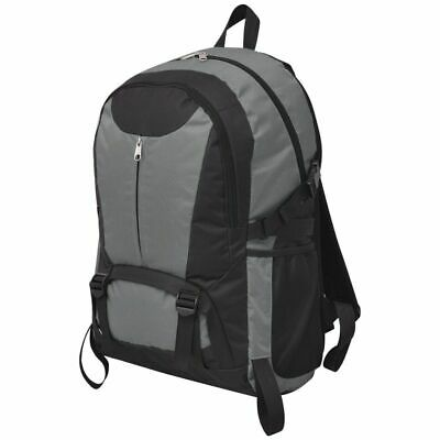 Travel Hiking Camping Backpack Rucksack Luggage Waterproof 40 L Black and Grey