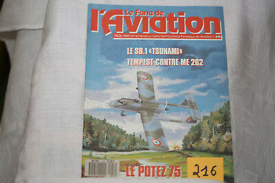 le fana de l'aviation n°216-les hydravions CAMS 3°-l'unique Potez 75-11/87