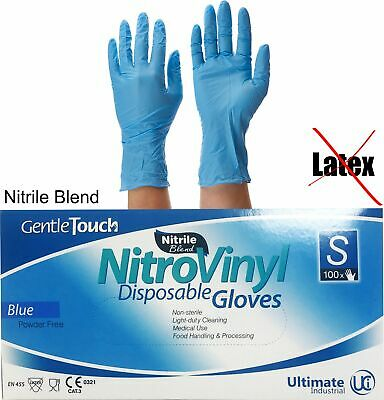 Disposable Nitrile Gloves - Powder Free - 100 Boxed - For Catering Industrial