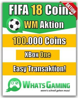 FIFA 18 - FUT - ULTIMATE TEAM - 100.000 Coins - 100k Münzen - Xbox One -