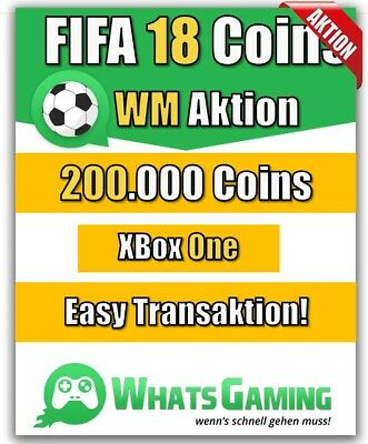 FIFA 18 - FUT - ULTIMATE TEAM - 200.000 Coins - 200k Münzen - Xbox One -
