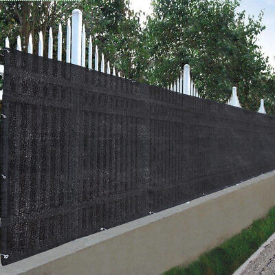 Flat Privacy Fence Screen Mesh 25'x4' For 4ft Tall Fencing Fabric Windscreen
