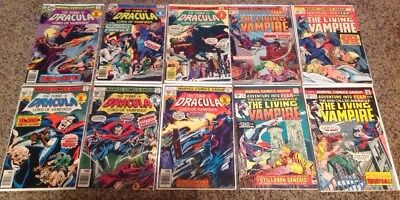 Tomb Of Dracula And Adventure Into Fear With Moribus Comic Lot