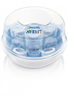 Philips AVENT Microwave Steam 6 Baby Bottle Sterilizer BPA Free EUC
