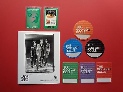 "GOO GOO DOLLS ,promo photo,8 ""OTTO"" Backstage passes,RARE Originals"