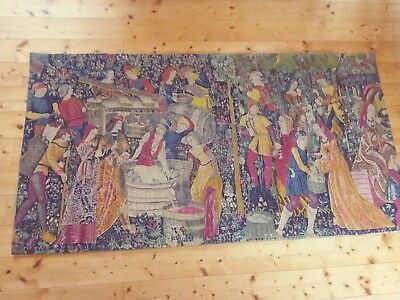 """Tapestry, Large French Aubusson Style Wall Hanging (188 x98cm)  6' 2"""" x  3' 2.5"""""""