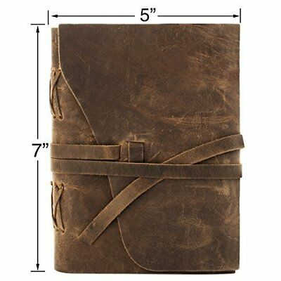 Leather Journal Travel Diary, Handmade Vintage Bound Notebook For Men & Women,