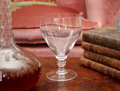 A Smart Victorian Hand Blown Glass Rummer, Bubble Inclusions