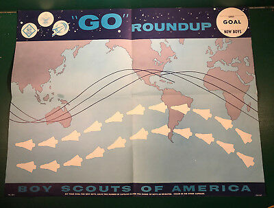 "Vintage 1960's ""Go"" Roundup Poster and ""Go"" Roundup Patch"