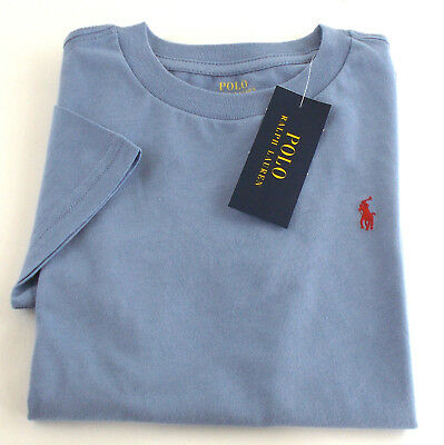 New POLO Ralph Lauren BOY Sizes 2T-7 T-SHIRT Embroidered PONY Blue SHORT SLEEVE