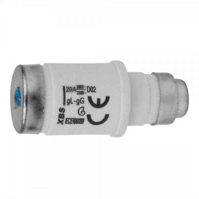 Fuse Link D02 20A E18 Retainer gL-gG XBS 2056