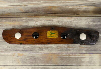 Repurposed Coat Hat Rack Antique Door Knobs John Deere Farmhouse Style Vintage