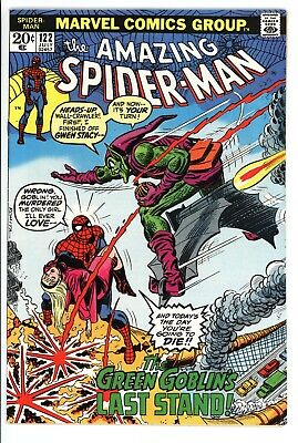 Amazing Spider-Man #122 Vol 1 Near Perfect High Grade Death of the Green Goblin