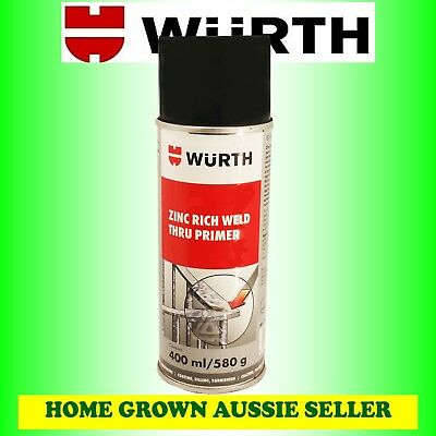 WURTH ZINC RICH WELD THRU PRIMER 400ml ZINC PROTECTION, BODYWORK, WELDING JOBS