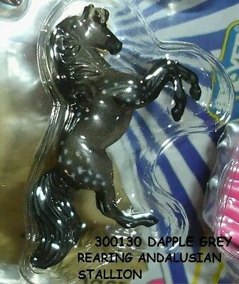 Breyer Mini Whinnie Dapple Grey REARING ANDALUSIAN of Circus Back Pack 300130