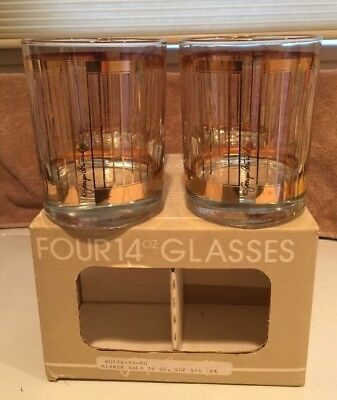 Georges Briard Tumbler LOT OF 4 Goldtone Old Fashioned New in Original  Box