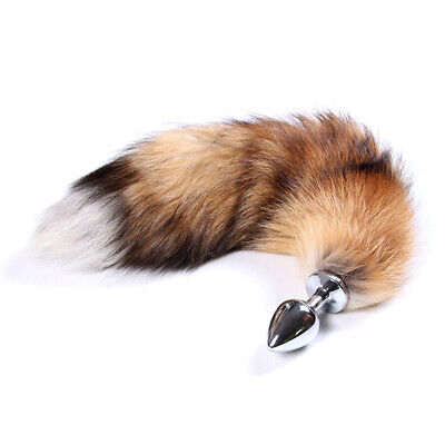 Cozy Feel stainless steel plug artificial fox tail role playing toy Romance Game