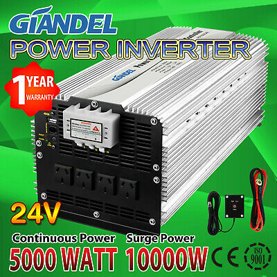 Pure Sine Wave Power Inverter 4000W (8000W Max) 24V-240V With 20 Amp Output Box